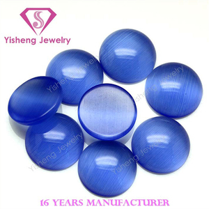 8mm round tanzania flat back craft cat eye gem stone beads for ring