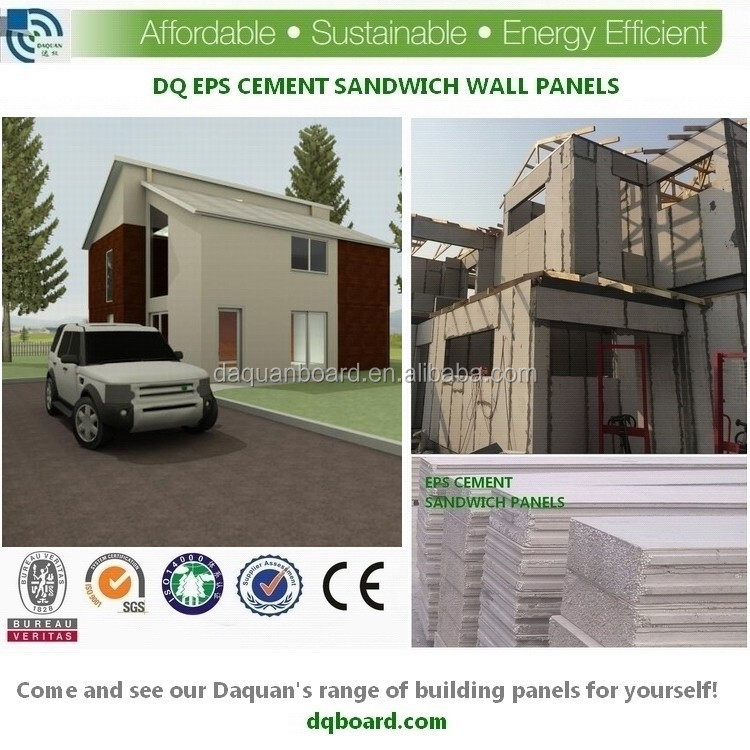 2 floor prefab individual homes by Compressed EPS foam Cement panel For partition Wall duplex villa