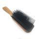 Wholesale wooden denman tek hair brush 9 rows ingrown hair brush for women