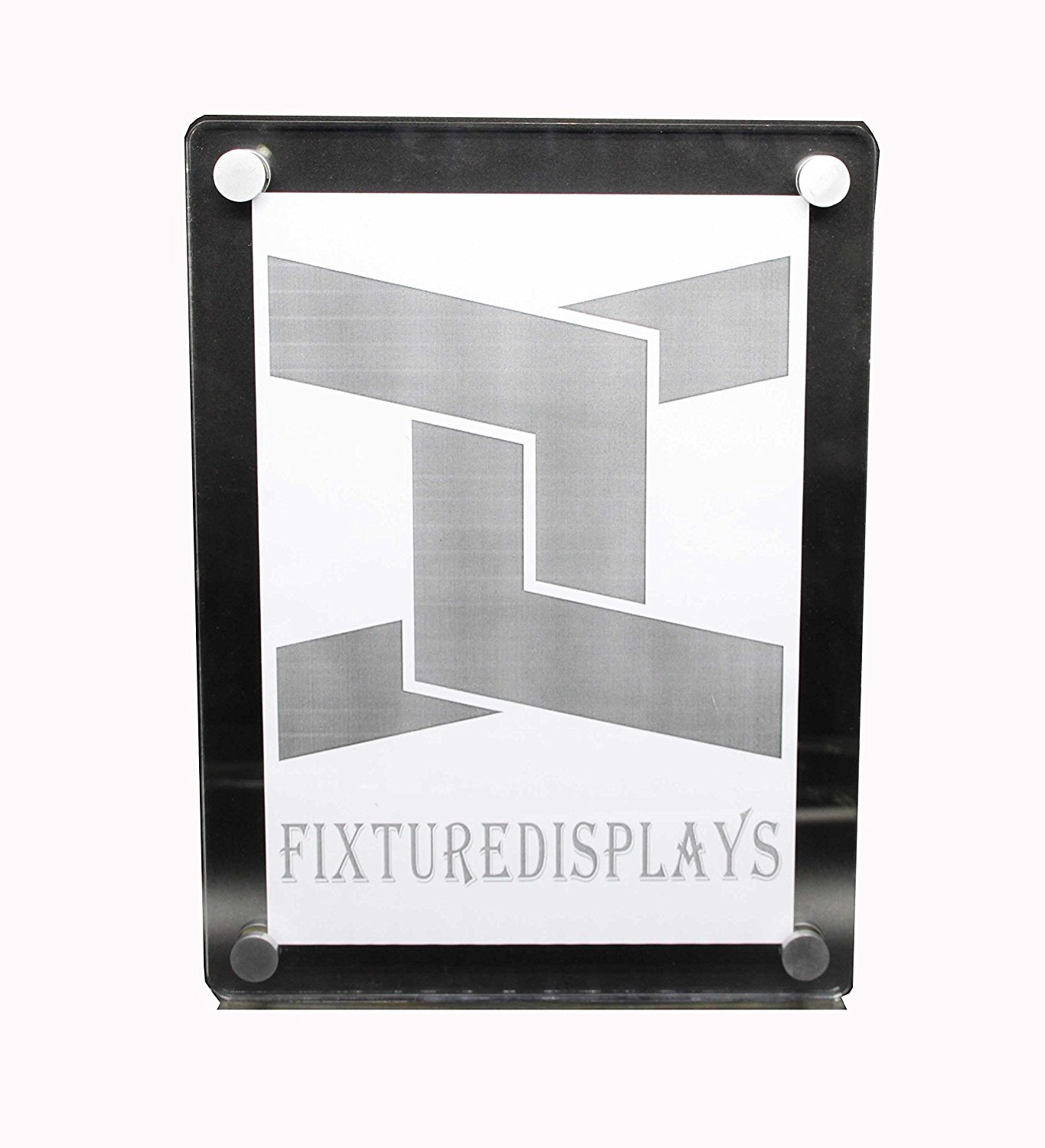 FixtureDisplays Clear Acrylic Plexiglass Lucite Wall Mounted Sign Holder 10772-3 8511