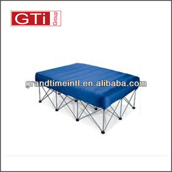 inflatable air bed with frame and cover