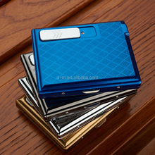 variouse color choose windproof metal recharge cigarette case lighter electric