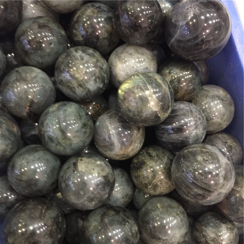 Wholesale natural polished labradorite stone spheres crystal ball
