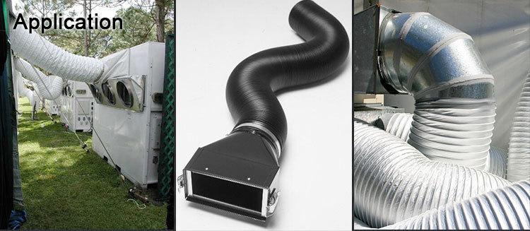 Hvac System Ventilation Plastic Combie Pvc Aluminum Foil