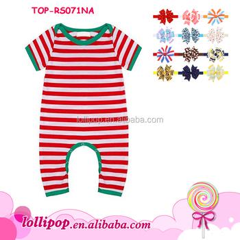 db70770cce Ropa Infantil de Navidad rayas bebé onesie niños niñas manga corta  enredadera personalizado bebé crece bodysuit