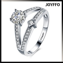 New Arrival Women Diamonique CZ White Gold Filled Wedding Ring Set Engagement Band For Women