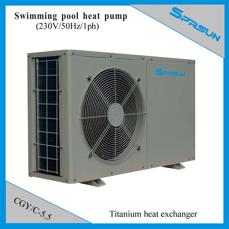 Swimming Pool Heater Heat Pump Titanium Heat Exchanger Anti Corrosion 5