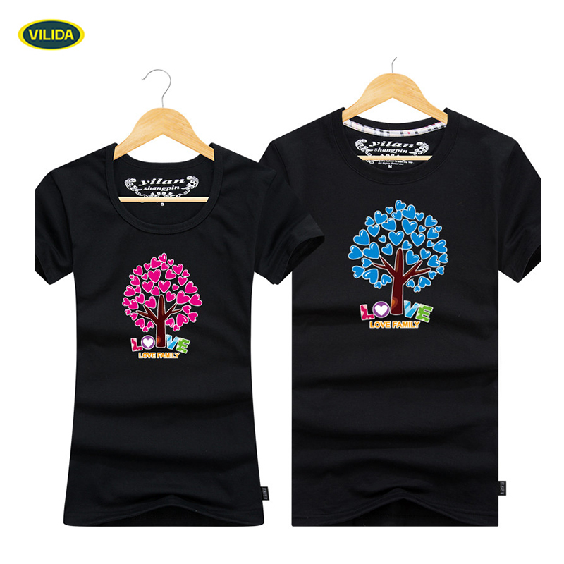 New Fashion Style DIY T-Shirt For Couple Made In China