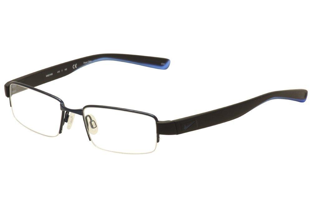 a7bd49ba665 Get Quotations · NIKE Eyeglasses 8165 413 Satin Blue Black Photo Blue 50MM