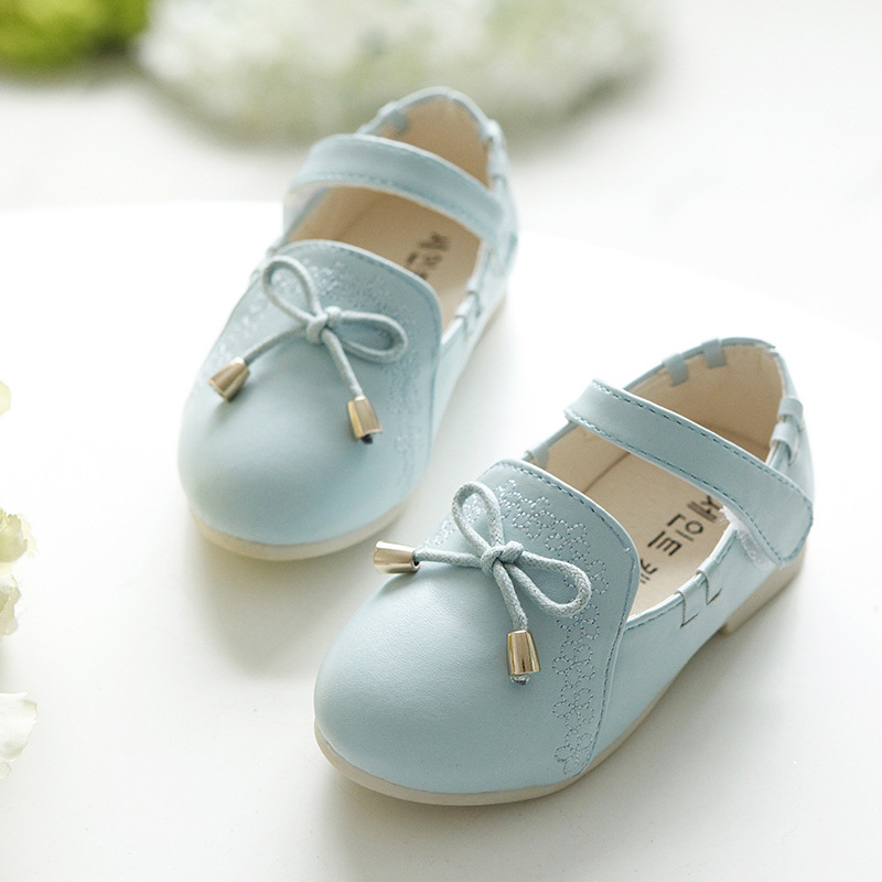 Flower Princess Bow Children Girls Shoes Kids Breathable Single Shoes  Lovely PU Leather Single Shoes Menina 9cd566a205de