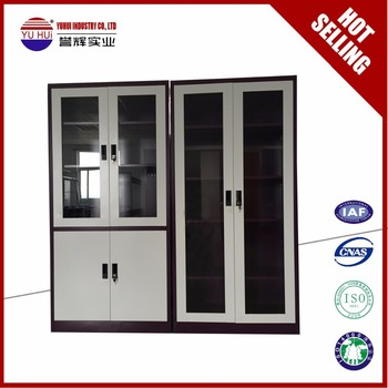 Metal Glass Door Disassembly Library Cupboard Library Bookcase