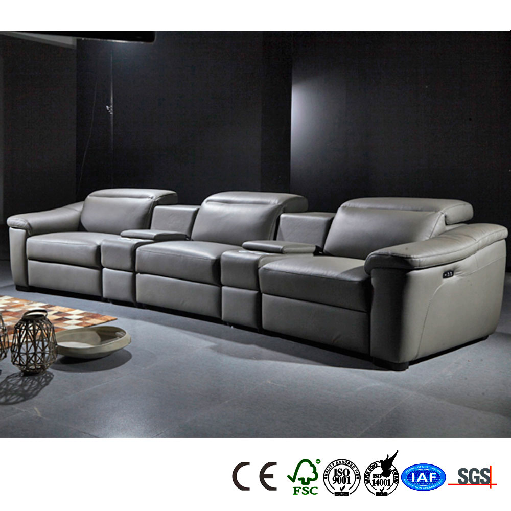 Manual operation best price various types leather sofa