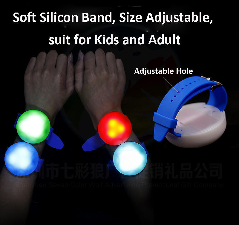 Party Favors Silicon LED Bracelet Control Dmx OEM Custom  Printing Logo Remote Control LED Silicon Bracelet DMX
