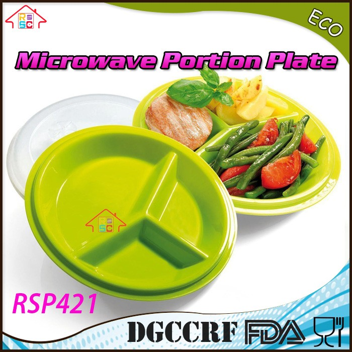 Microwave Portion Control Plates pack 2-pieces 3-Section meal prep 3-compartment  sc 1 st  Ningbo Yinzhou RSC Houseware Co. Ltd. - Alibaba & Microwave Portion Control Plates pack 2-pieces 3-Section meal prep ...