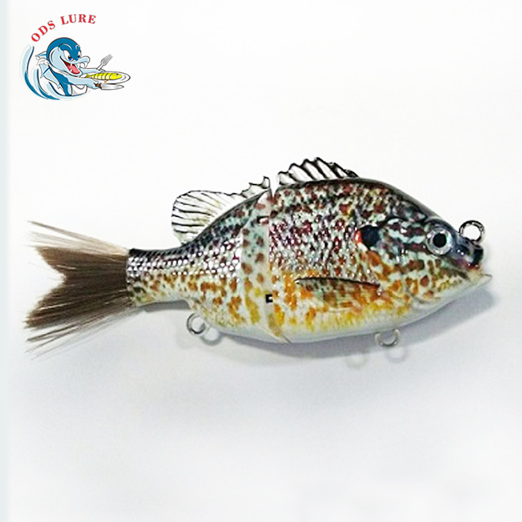 Glide lure hard plastic fishing lures slow sink 2 section bluegill glide baits