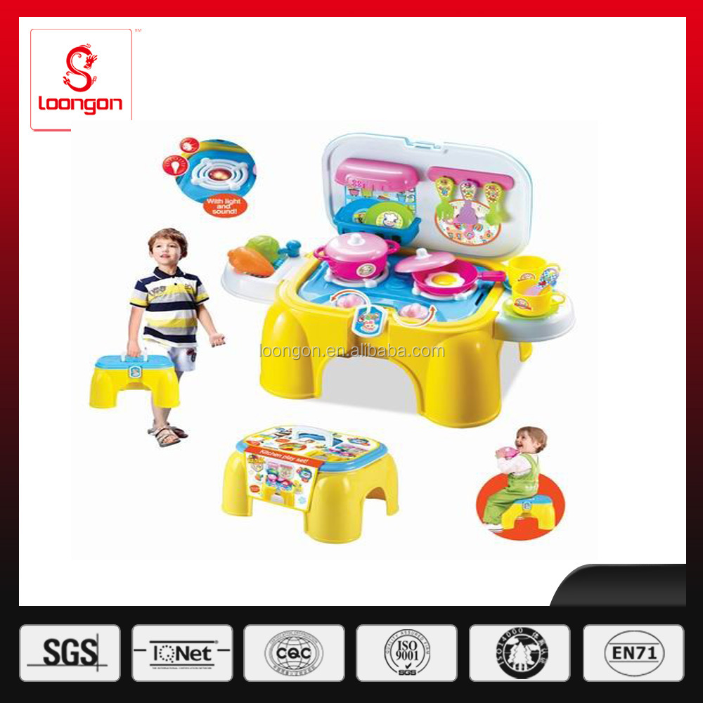 Loongon pretend play toy kitchen chair for kid