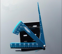 Hot sale 3 in1aluminium Folding ruler/measurement /Square ruler for competition standard measurement tools