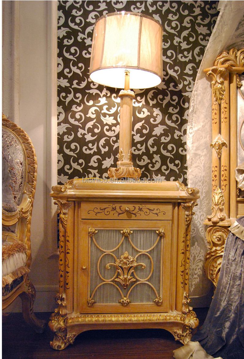 Luxury French Rococo Style Wood Carved Marquetry Canopy