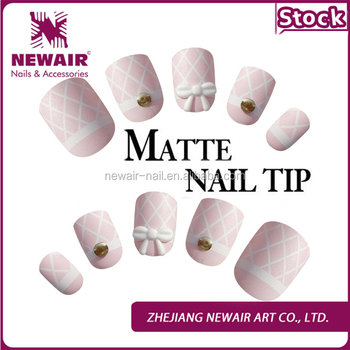 Different Designs Matte Fake Nails Artificial Fingernails Nail Tips