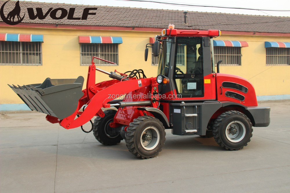 China high quality small wheel loader zl12f for sale with earth auger