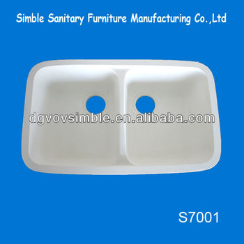 Acrylic Solid Surface Kitchen Apron Sink/undermount Kitchen Sink