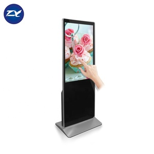 Remote Control Wifi Android 43 Inch Indoor Floor Standing Advertising Lcd Touch Screen Digital Signage Totem Kiosk