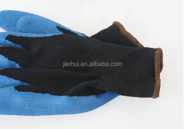 JIE'ERHUI Cheap 13g polyester liner with latex palm coated working glove