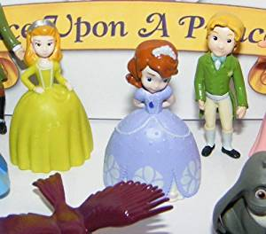Disney Princess Sophia the First Deluxe Mini Figure Set Toy Playset of 12 with Sophia, Princess Amber, King Roland, Queen Miranda, 4 Animal Friends, the 3 Fairies and More!