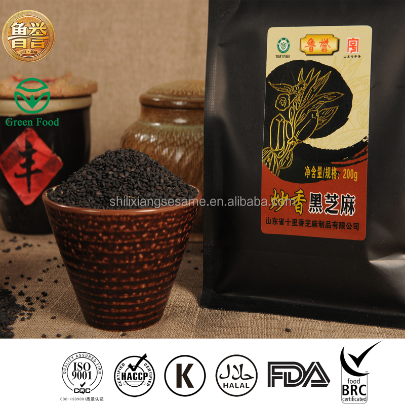 100% Best Pure Chinese Roasted Sesame Seeds Black Use For Cooking