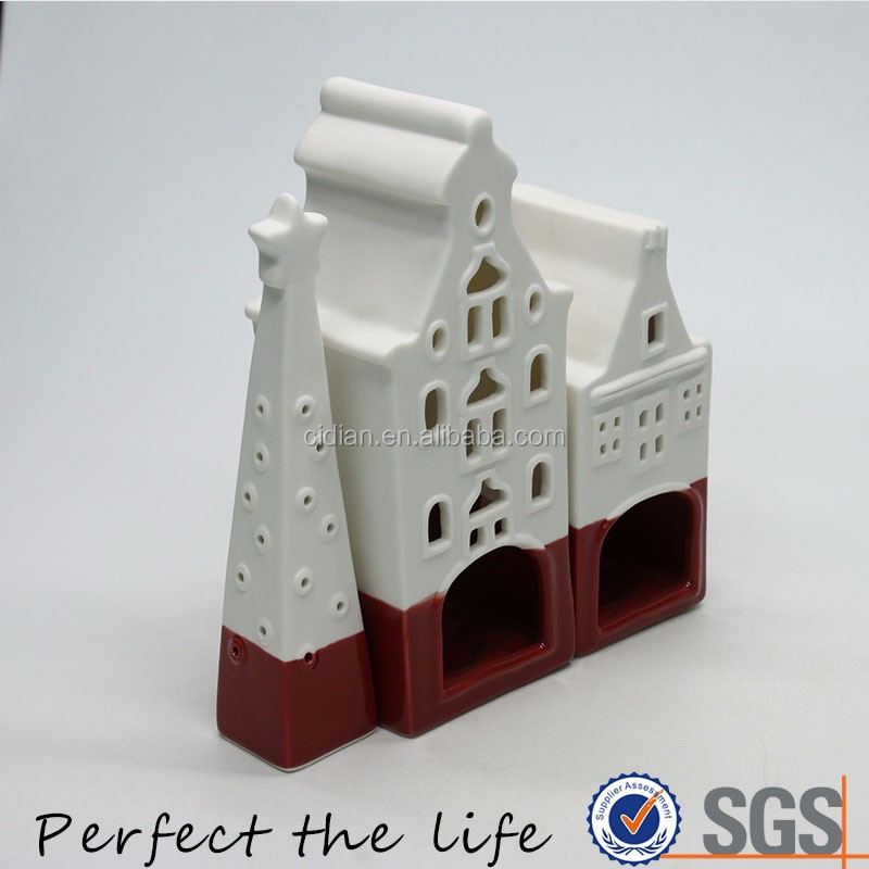 Ceramic European style House Building Christmas Gift Set