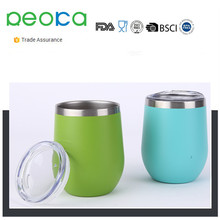 Double Wall Unbreakable Insulated Stainless Steel Stemless Wine Glass Tumbler Lowball