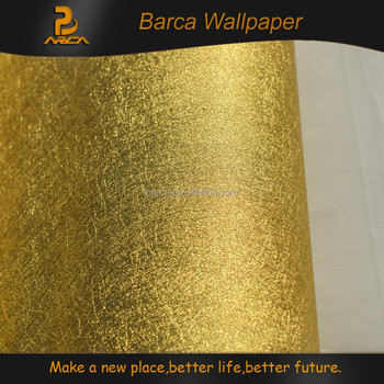 Luxury Korea Design Gold Metallic Wallpaper