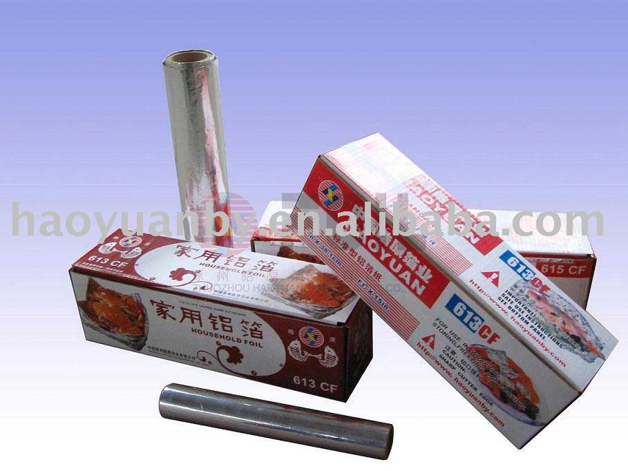 household aluminium/aluminum foil 20micron for food packing