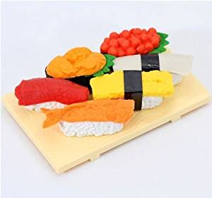 9a79677cb1 Get Quotations · Iwako erasers Sushi Japan 6 pieces set from Japan