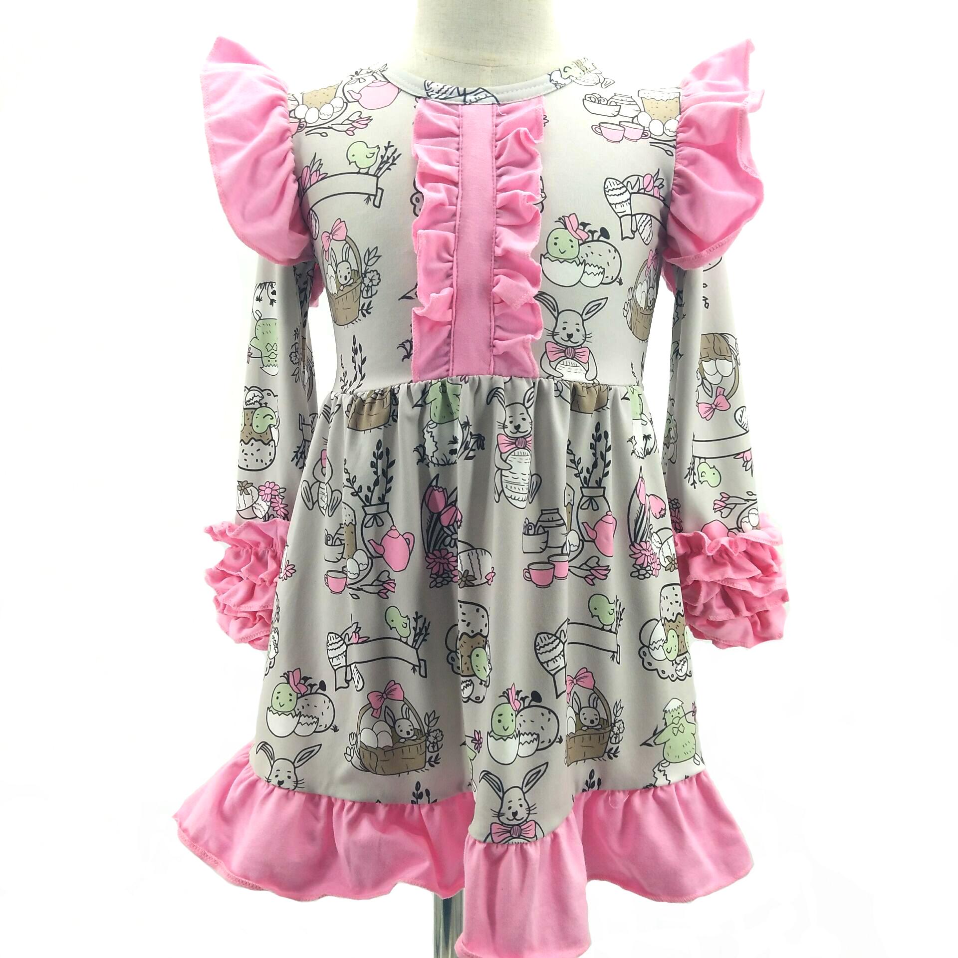 Wholesale Spring Children Fancy Princess Kids Dresses Baby Girl