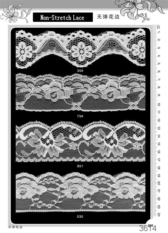 tricot lace/non elastic lace/stretch lace