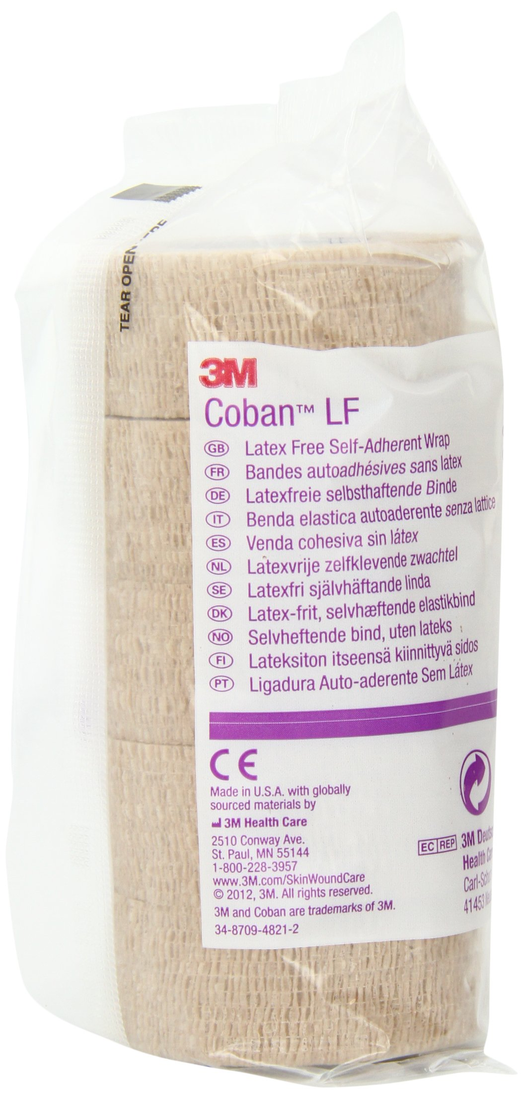 3M Coban LF Latex Free Self-Adherent Wrap 2081, 30 Rolls (Pack of 6)
