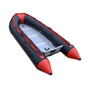 China 1.2mm PVC Inflatable 360 cm Fishing Pontoon Boats For Sale