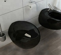 ceramic sanitary ware egg shape wall hung toilet wc manufacturer black bathroom wall mounting toilet