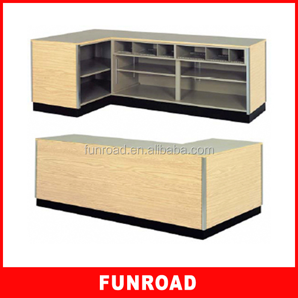 World Name Interior Store Design Wooden Cash Counter Cabinet ...