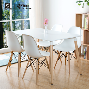 MDF wooden 4 or 6 chairs kitchen dining room furniture dinning table set