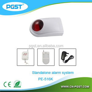 Waterproof solar strobe siren kits,wireless alarm solar siren security,home/shop/school alarm cameras systems