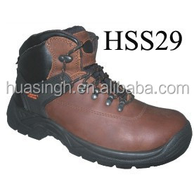 crazy brown leather active sport style safety boots with support system