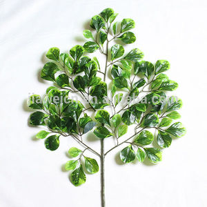 artificial decoration plastic money tree leaves branches