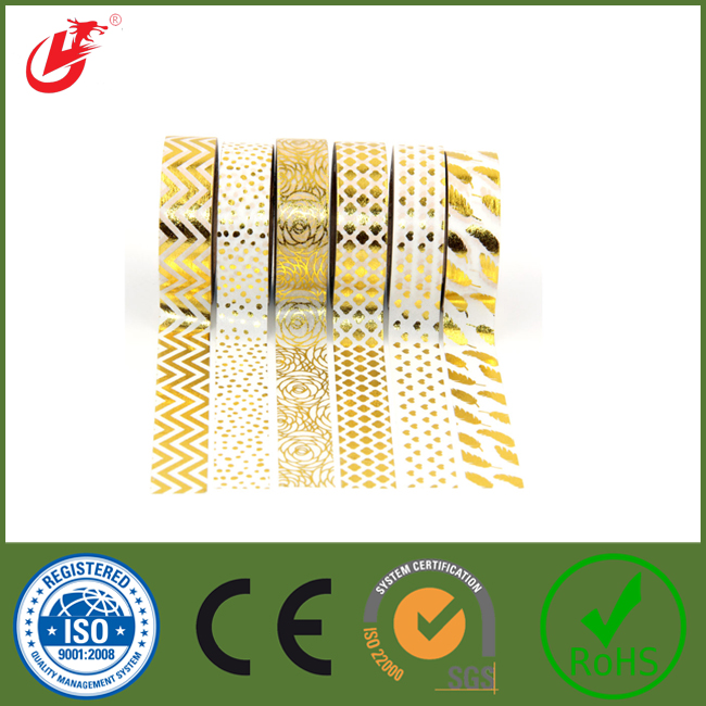 Wholesale 2016 quality highFoil Washy tape for gift wrapping ...