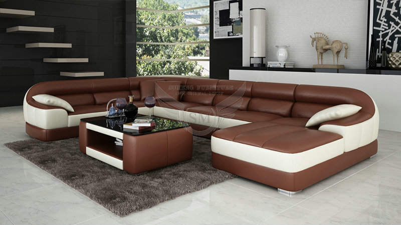Fashionable round shape modern new design corner sofa New couch designs