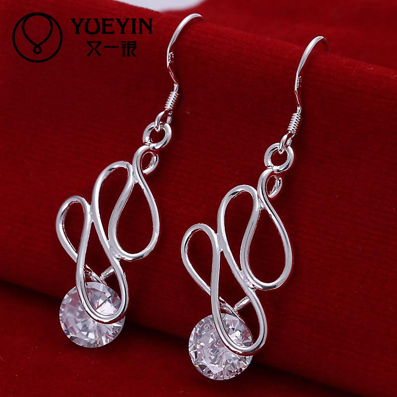 Newest design fashion Copper CZ Drop bridal earrings