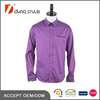 Bright Purple Stripes Black Contrast Inserted Collar Placket and Cuff Welt Pocket Latest Casual Shirt Design
