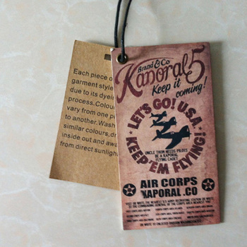 Custom Paper Garment Hang Tag Template  Buy Garment Hang Tag