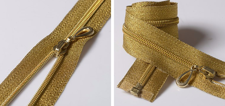 #5 golden Teeth Nylon Zipper or Zips